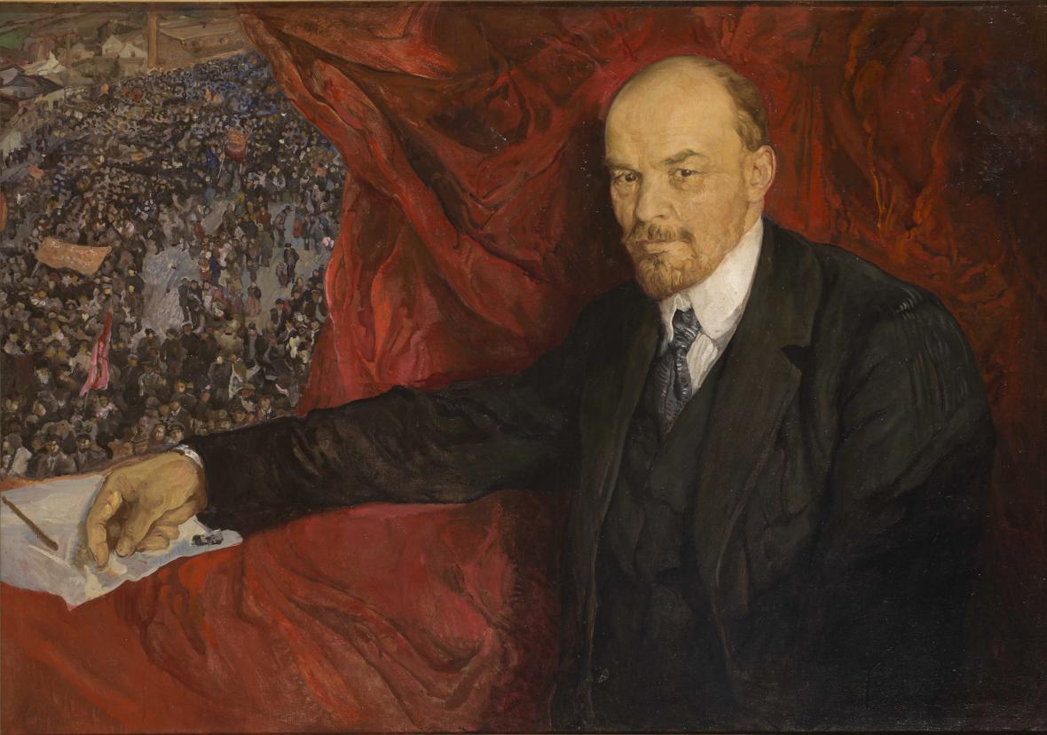 Isaak Brodskij / Lenin a manifestace, 1919