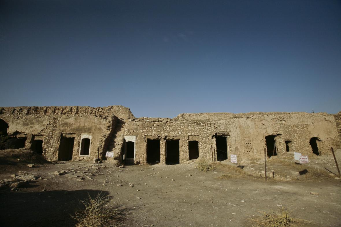Ruiny kláštera sv. Eliáše v Iráku