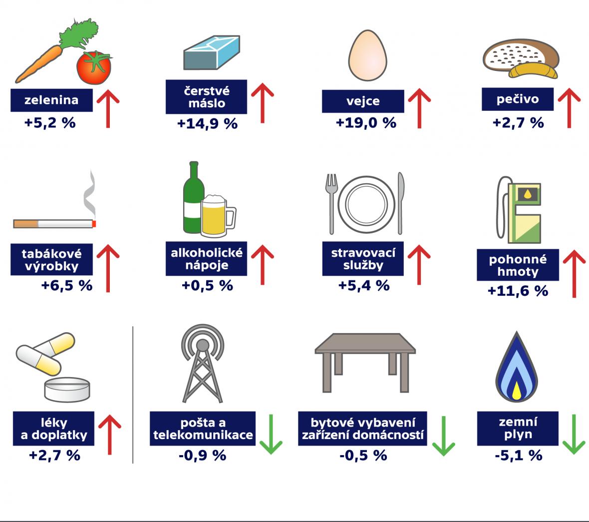 Inflace v únoru 2017
