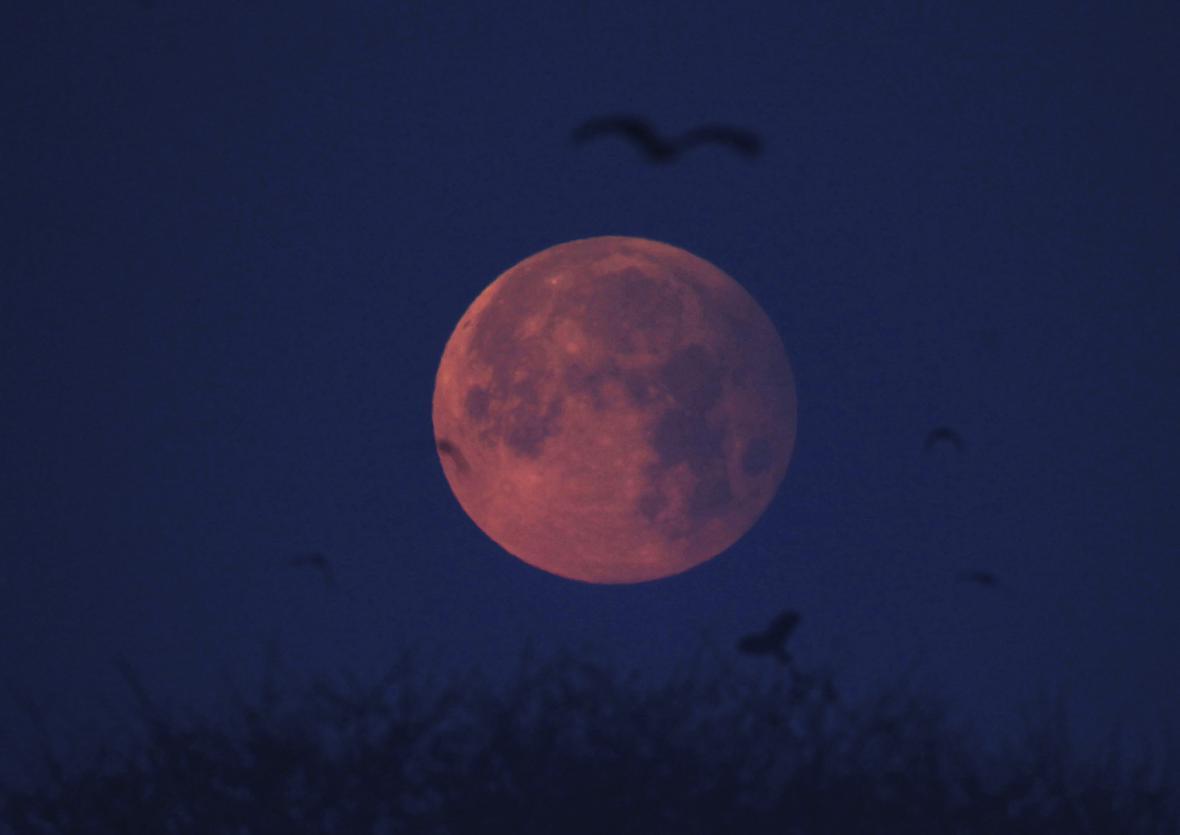 Polostínové  zatmění Měsíce v Pákistánu