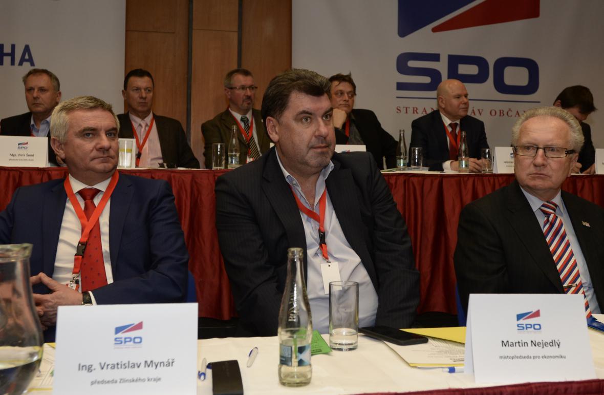 Vratislav Mynář, Martin Nejedlý a Jan Veleba