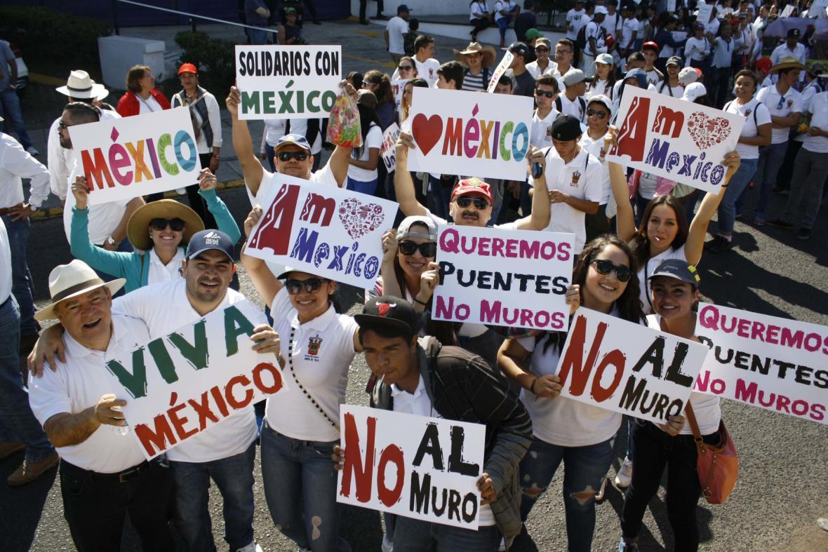 Protesty v Mexiku