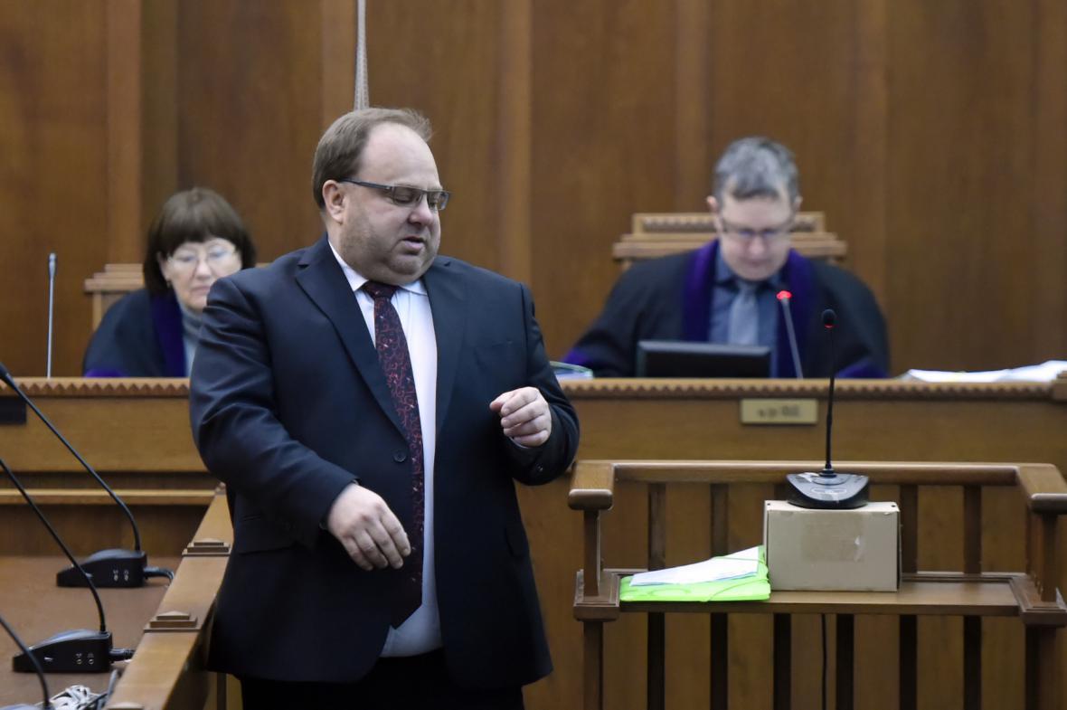 Exhejtman Miroslav Novák u krajského soudu v Ostravě
