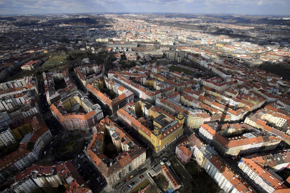 Výhled z žižkovské věže