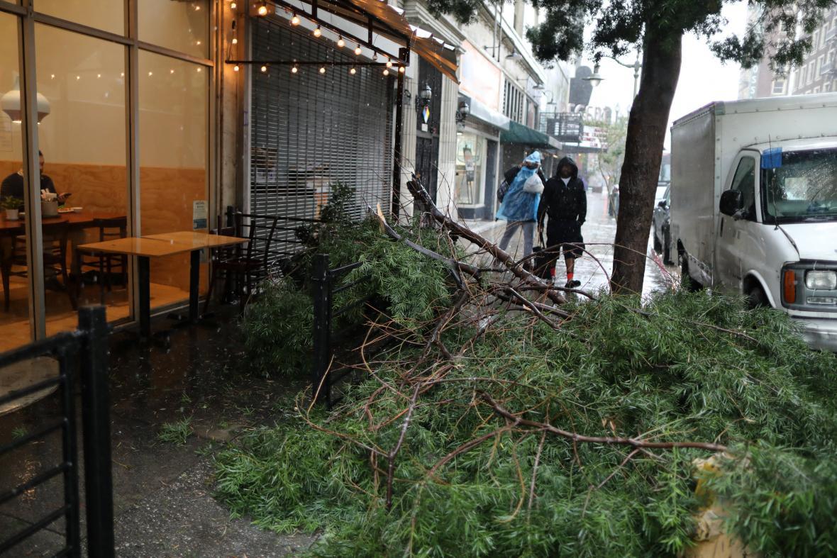 Důsledky bouře v Los Angeles