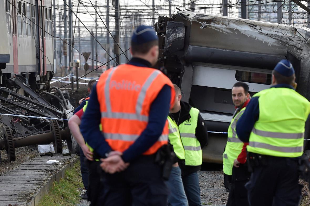 Vlakové neštěstí v Belgii