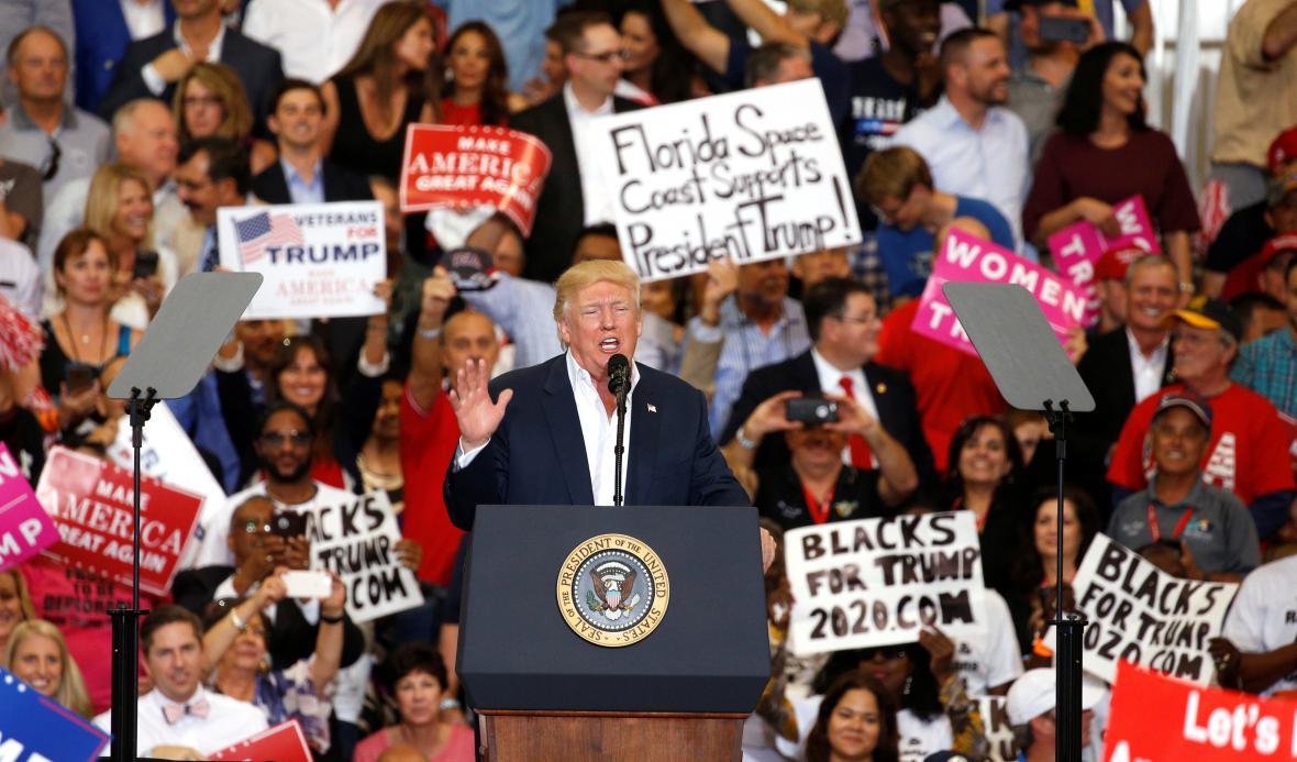 Trumpův floridský proslov
