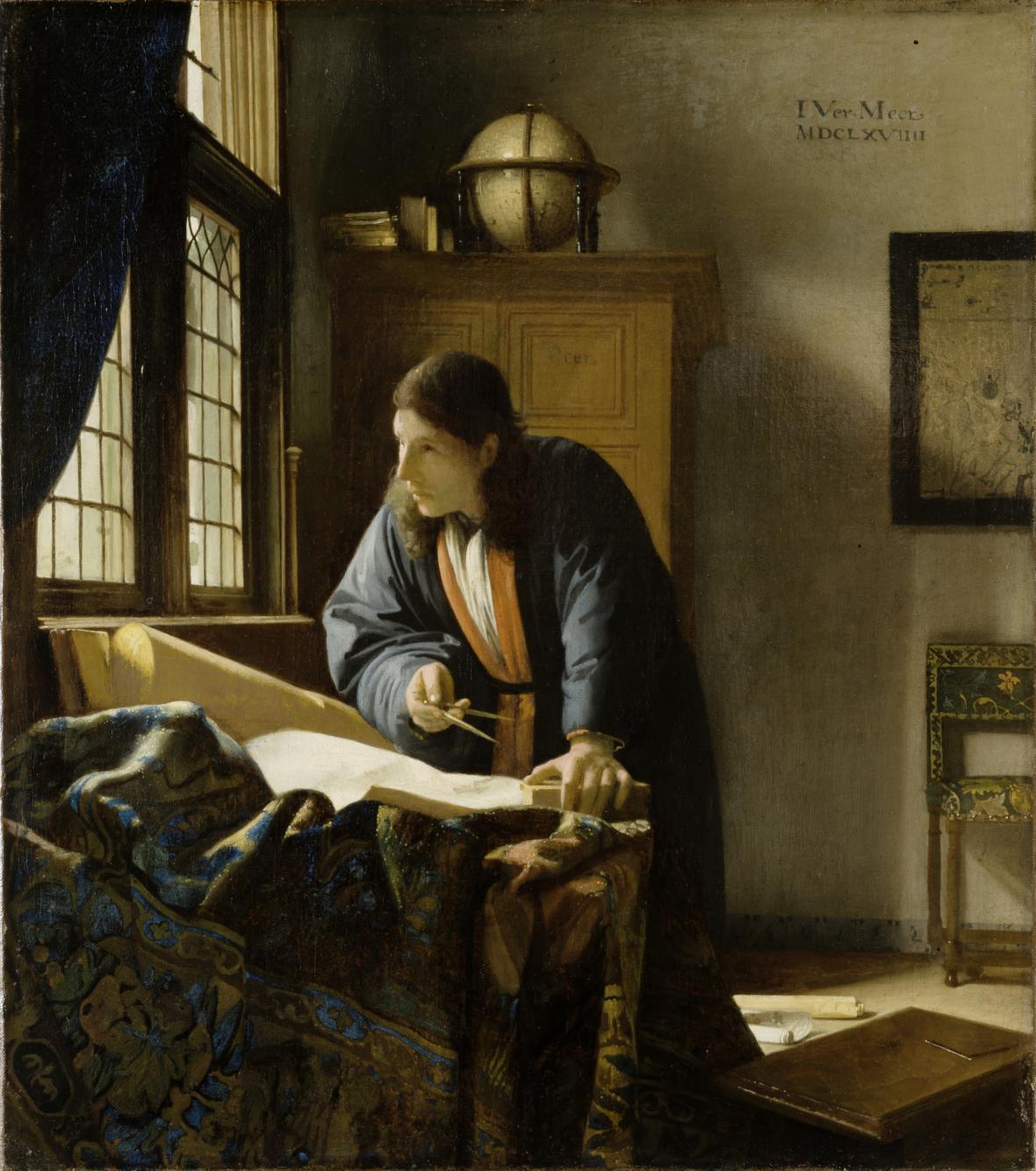 Johannes Vermeer / Geograf, 1669