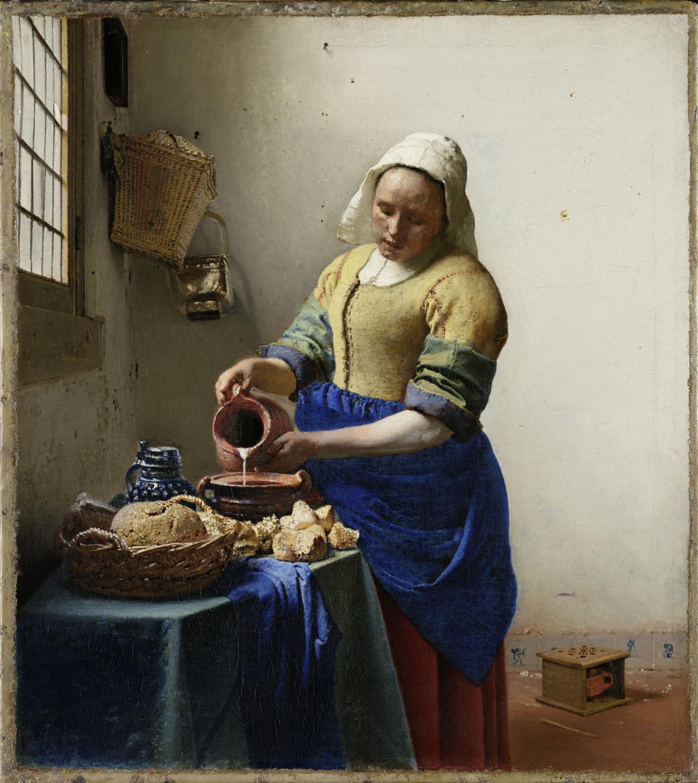 Johannes Vermeer / Mlékařka, kolem 1657-1658