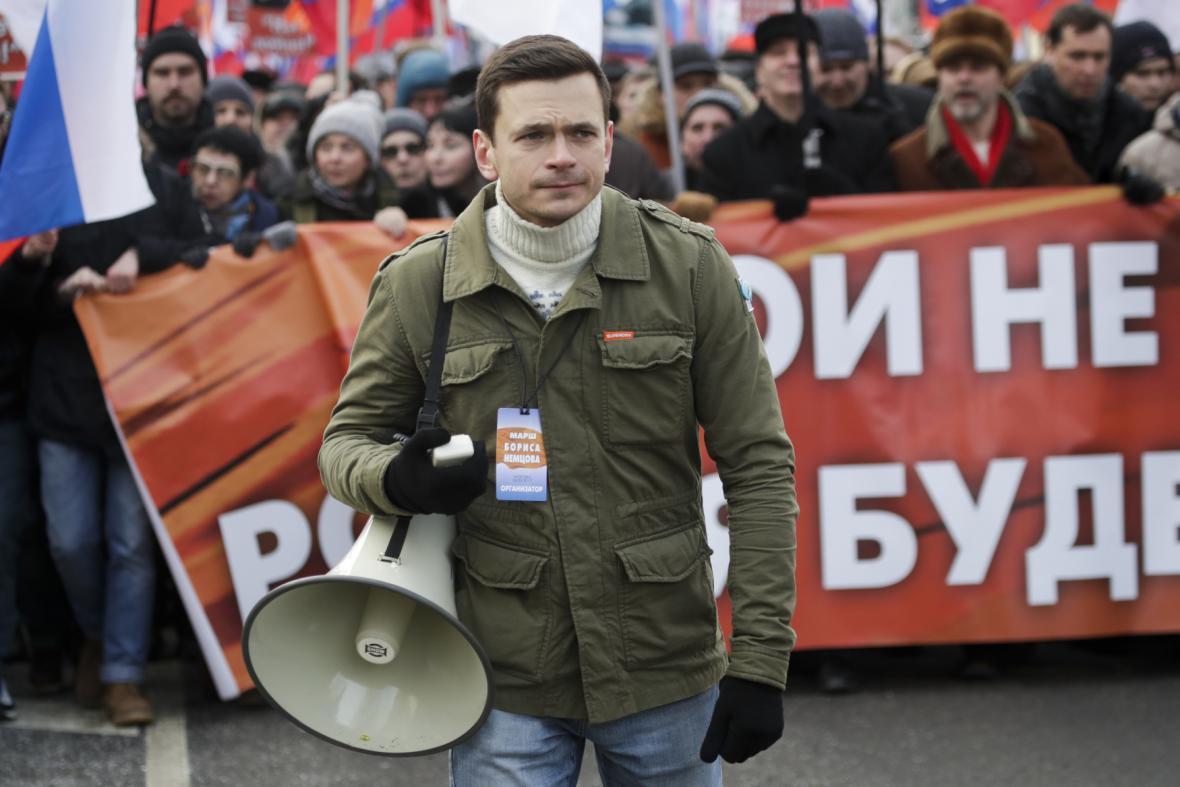Ilja Jašin z opozičního hnutí Solidarita