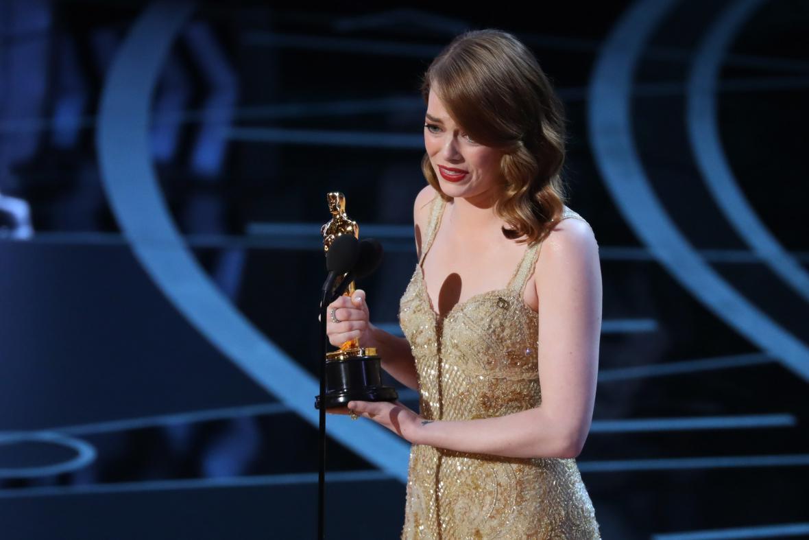 Nejlepší herečka v hlavní roli Emma Stone (La La Land)
