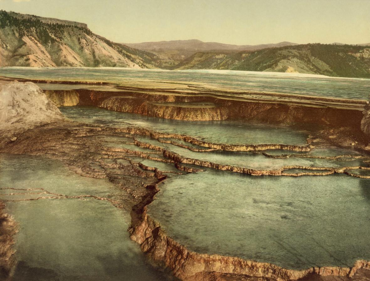 Yellowstone - historický snímek