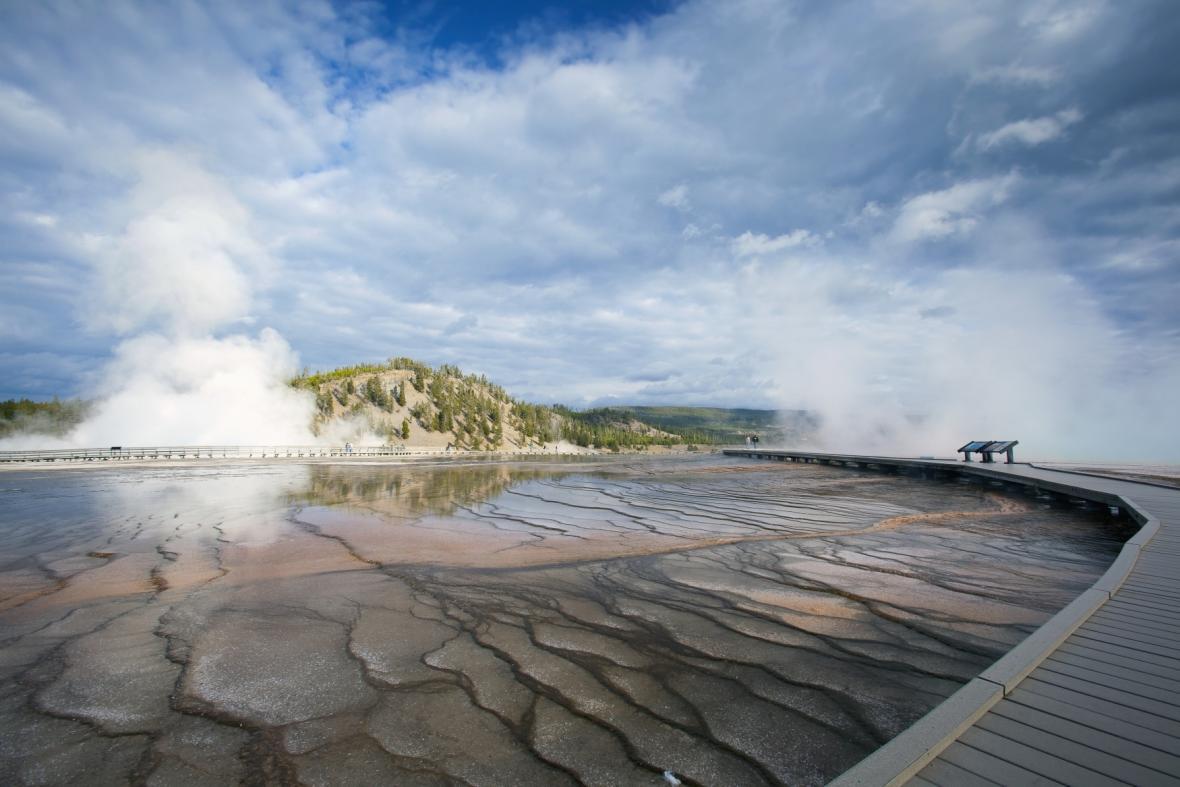 Yellowstone je velice vulkanicky aktivní oblast