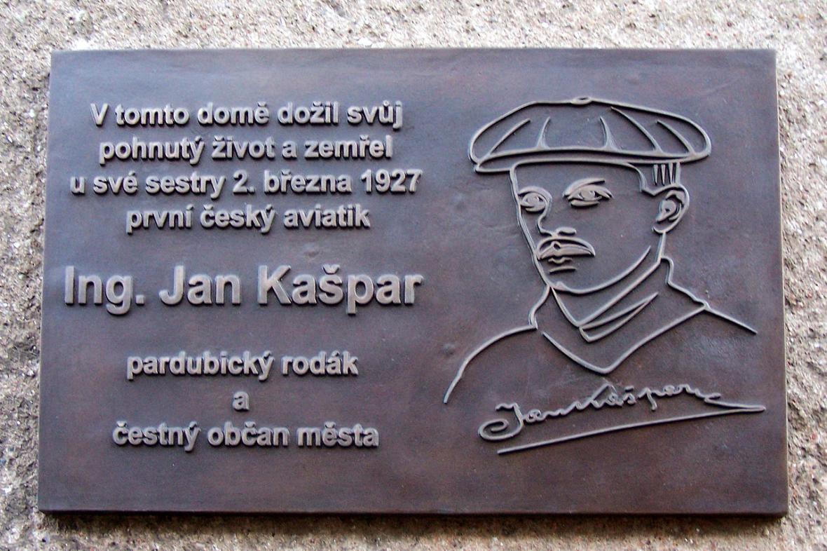 Pamětní deska Jana Kašpara