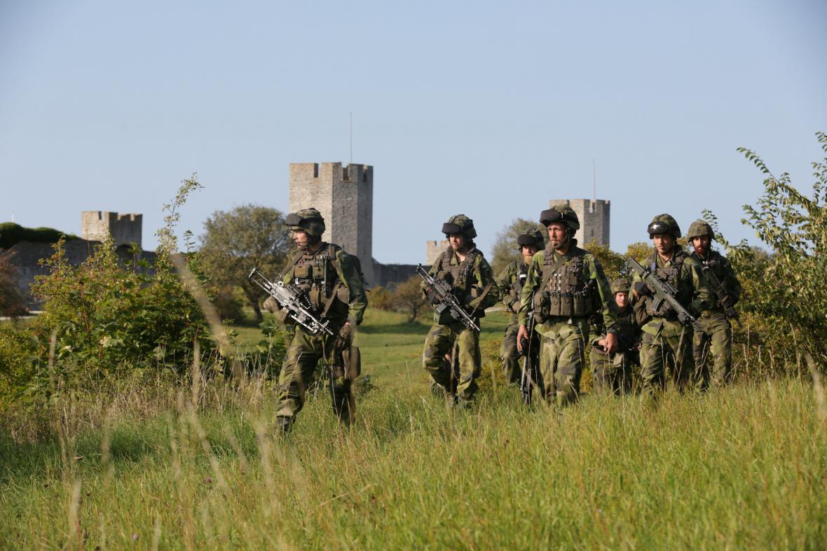 Švédská armáda na Gotlandu