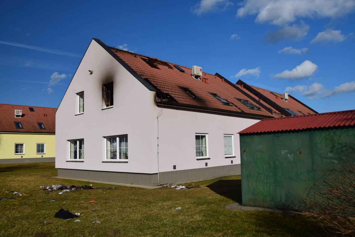 Dětský domov v Sedlci-Prčici po požáru