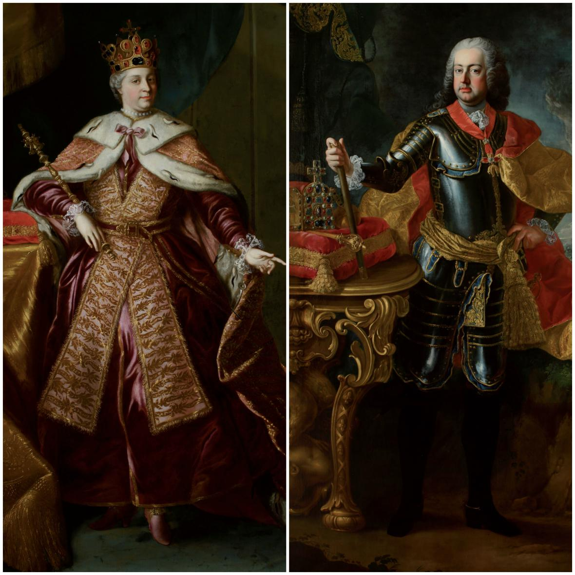 Marie Terezie a František Štěpán Lotrinský