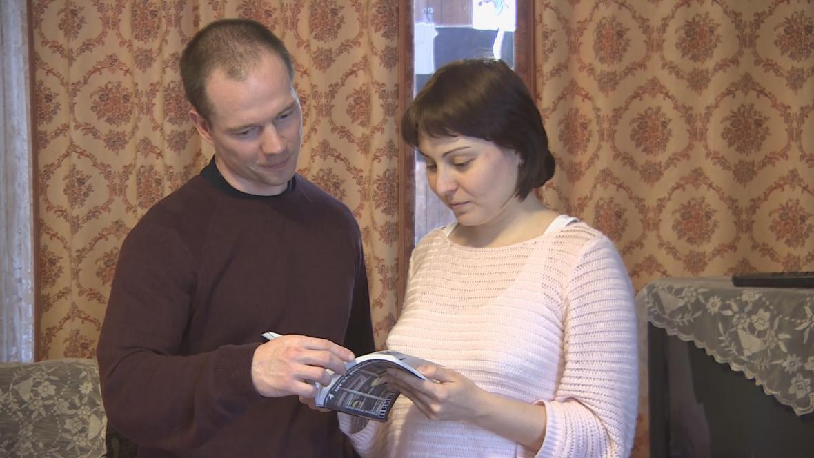 Ildar Dadin s manželkou Anastásií