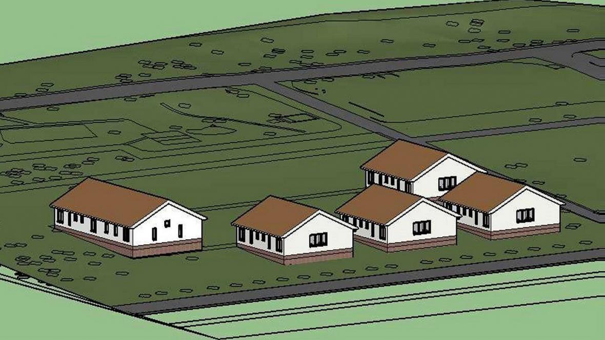 Vizualizace otevřené věznice Jiřice