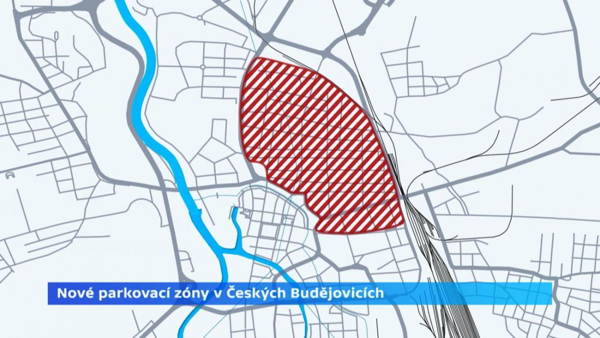 Nové parkovací zóny v Českých Budějovicích
