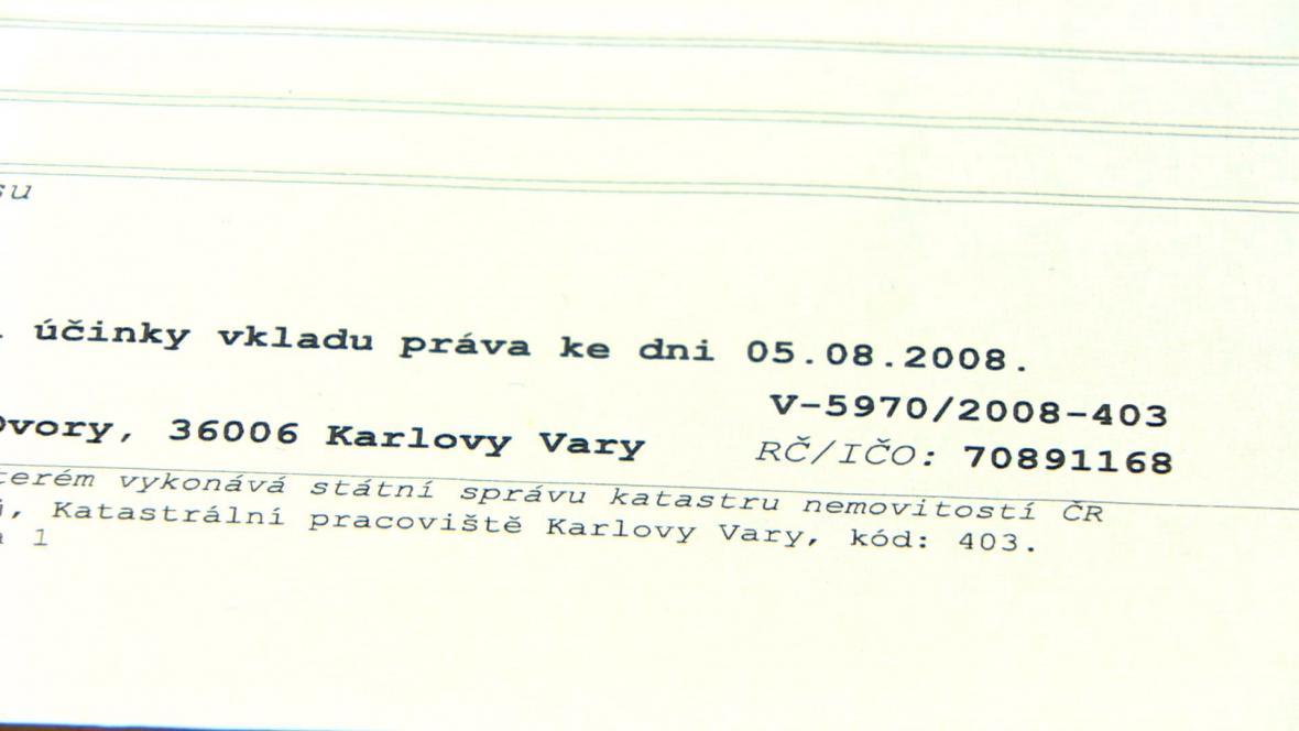Kraj se stal majitelem Císařských lázní 5. srpna 2008