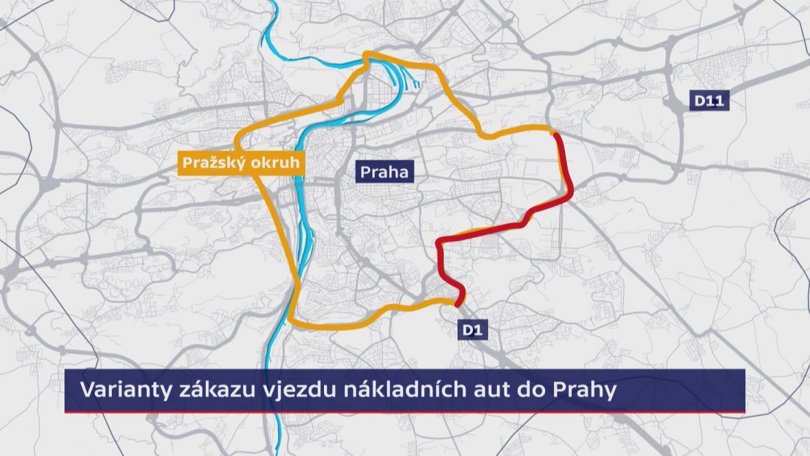 Omezení kamionů v Praze