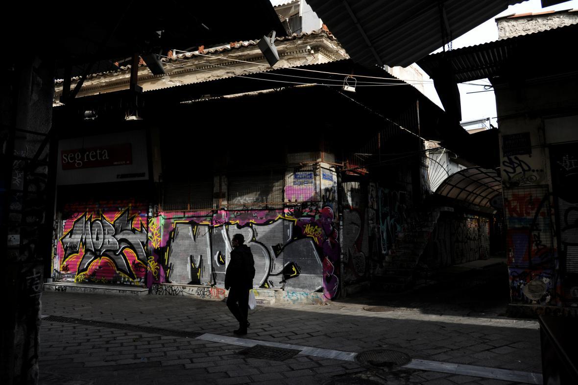 Hlavní obchodní ulice v Aténách