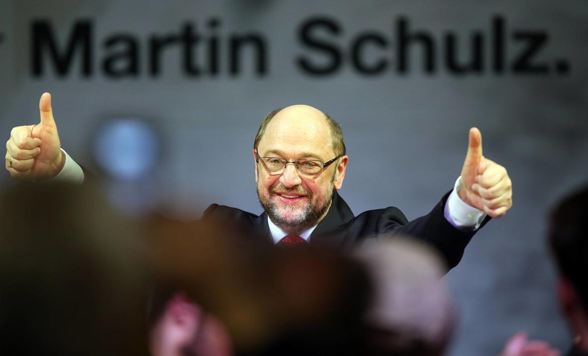 Kandidát německé SPD na kancléře Martin Schulz