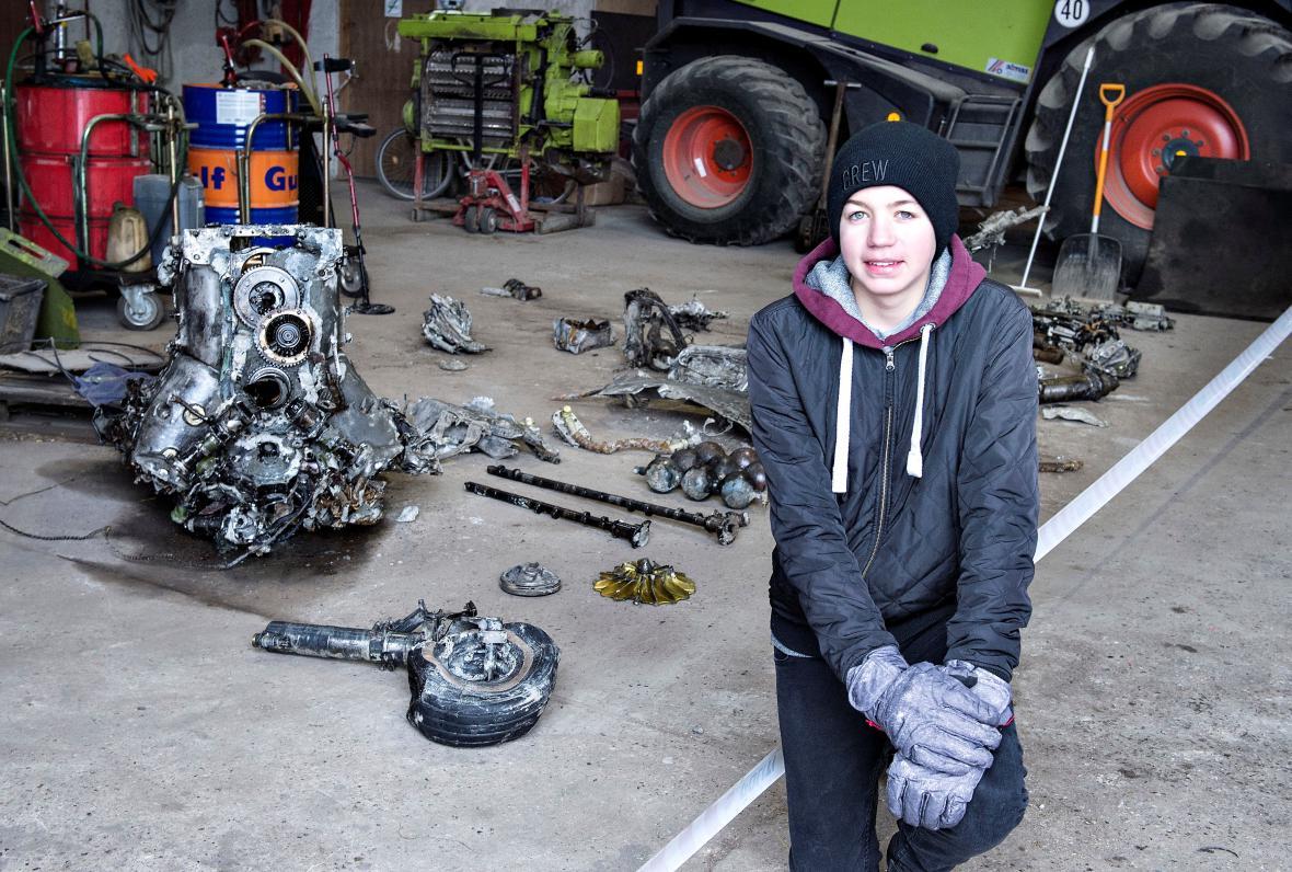 Dánský chlapec našel německý válečný stroj