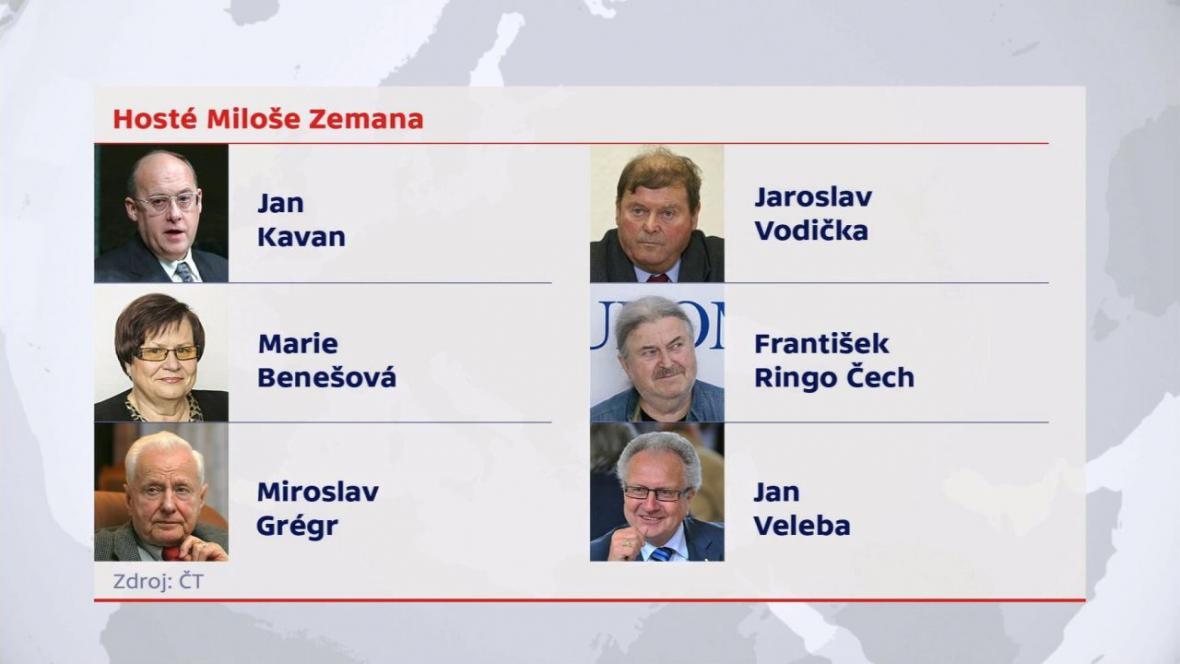 Hosté Miloše Zemana