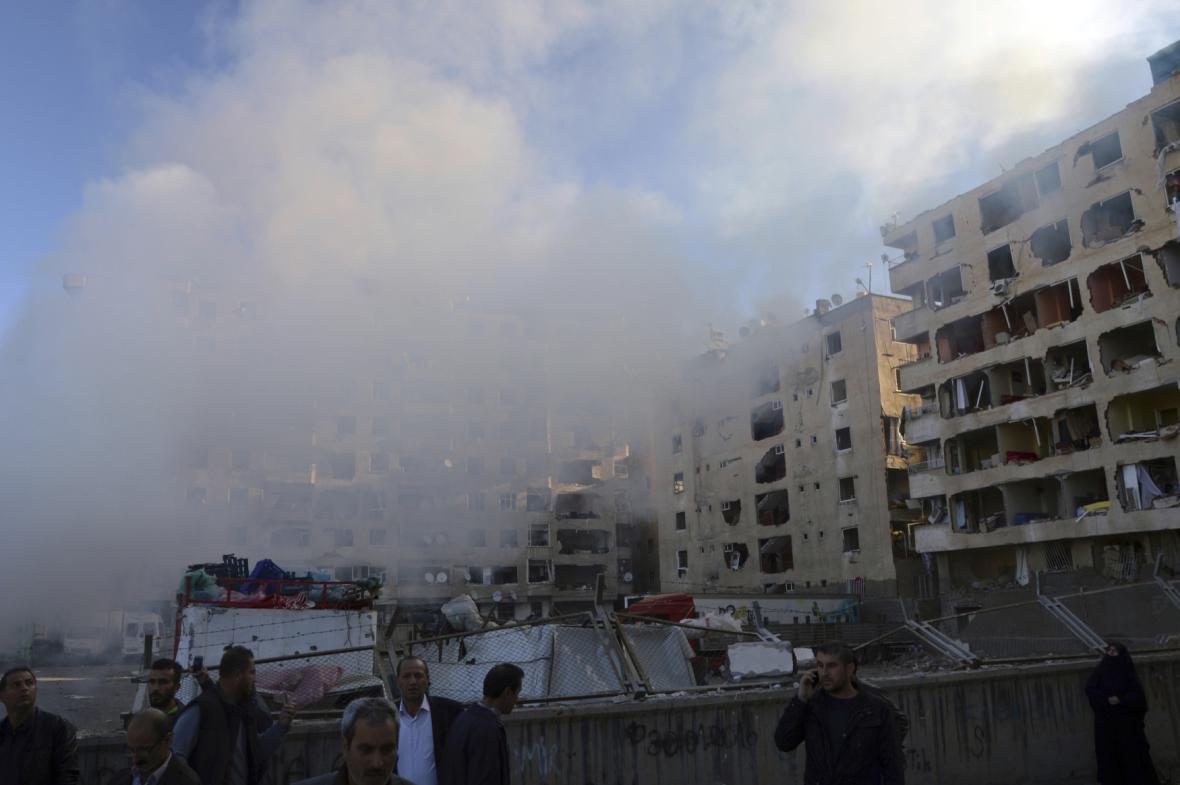 Exploze ve městě Diyarbakir