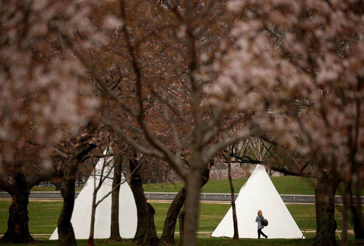 Týpí v centru Washingtonu