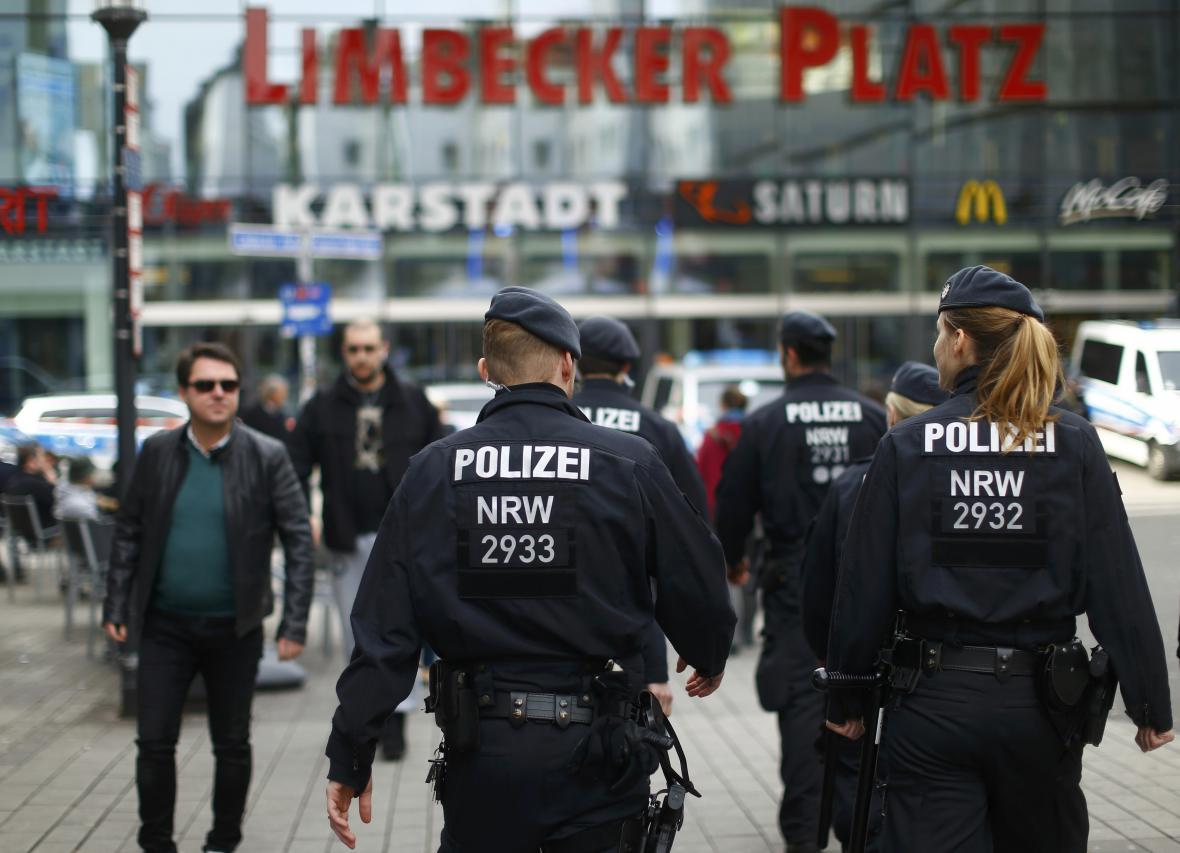 Policejní zásah v Essenu