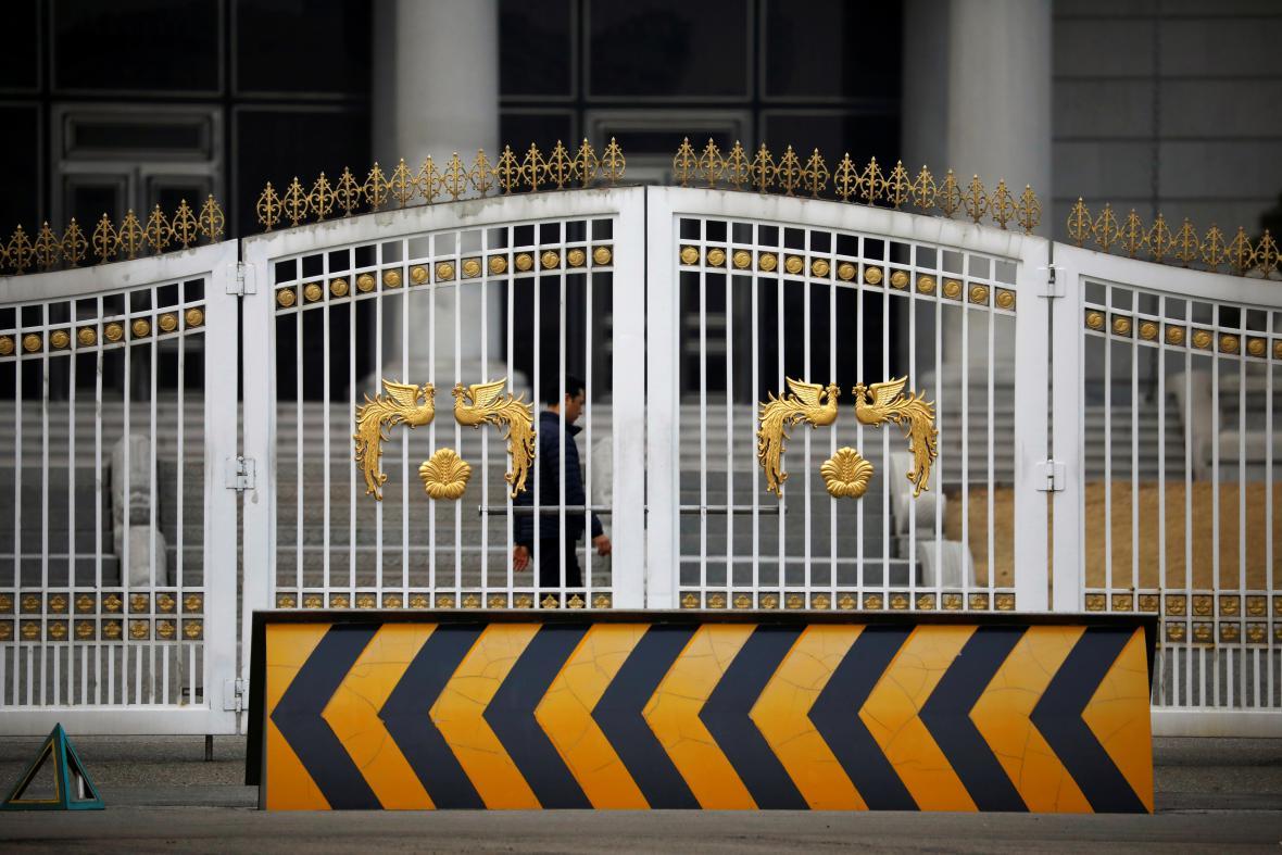 Brána před prezidentským palácem v Jižní Koreji