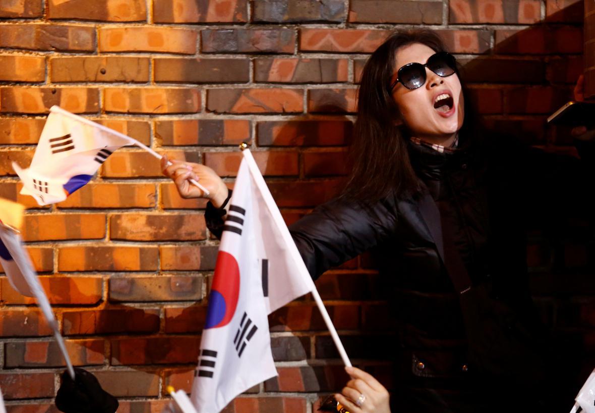 Příznivkyně jihokorejské exprezidentky