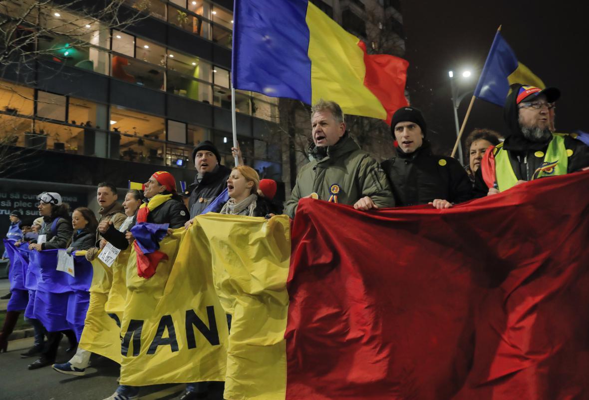 Rumunský protivládní protest