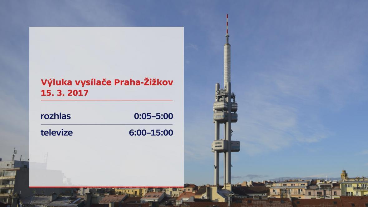 Výluka vysílače Praha-Žižkov