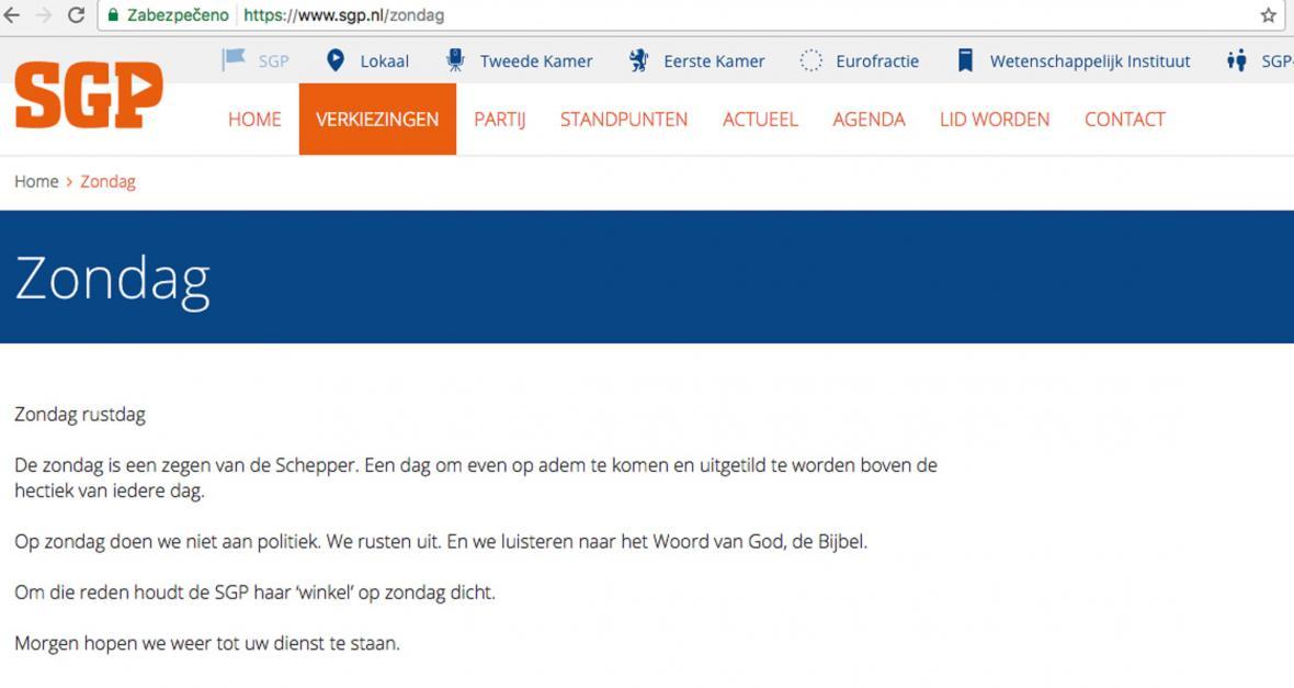 SPG v neděli vypíná webové stránky