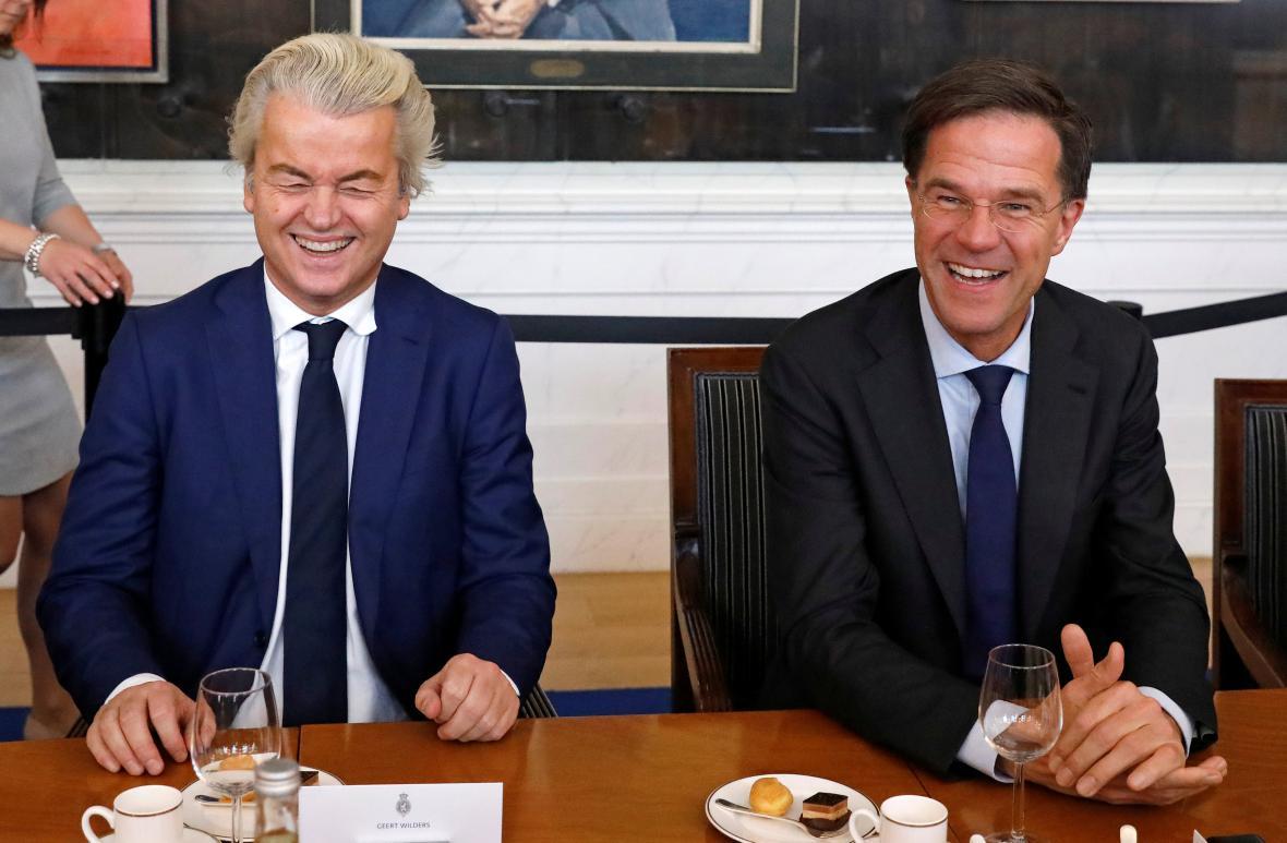 Geert Wilders a Mark Rutte