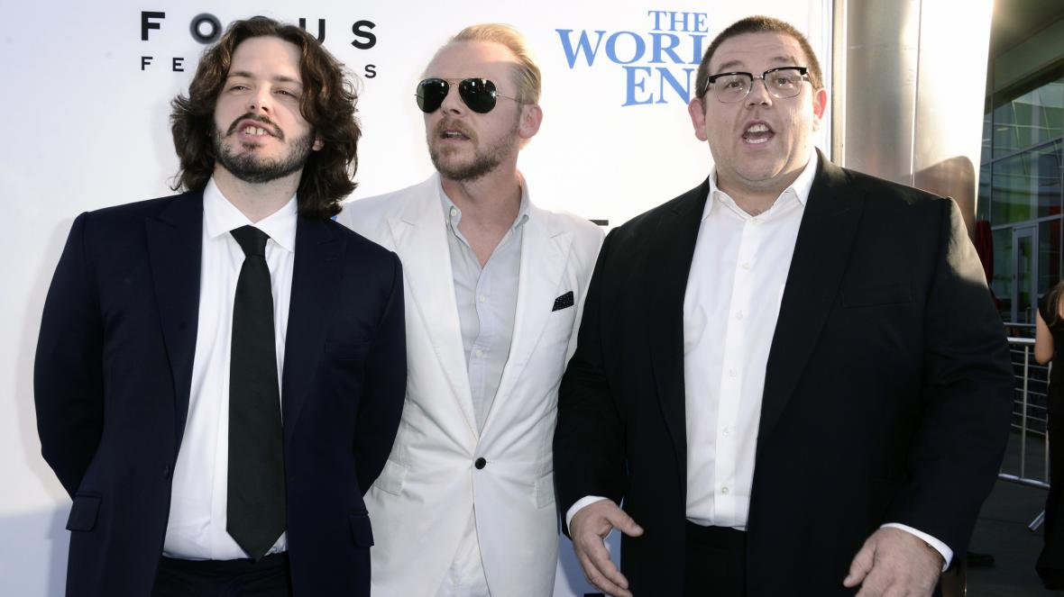 Edgar Wright, Simon Pegg a Nick Frost
