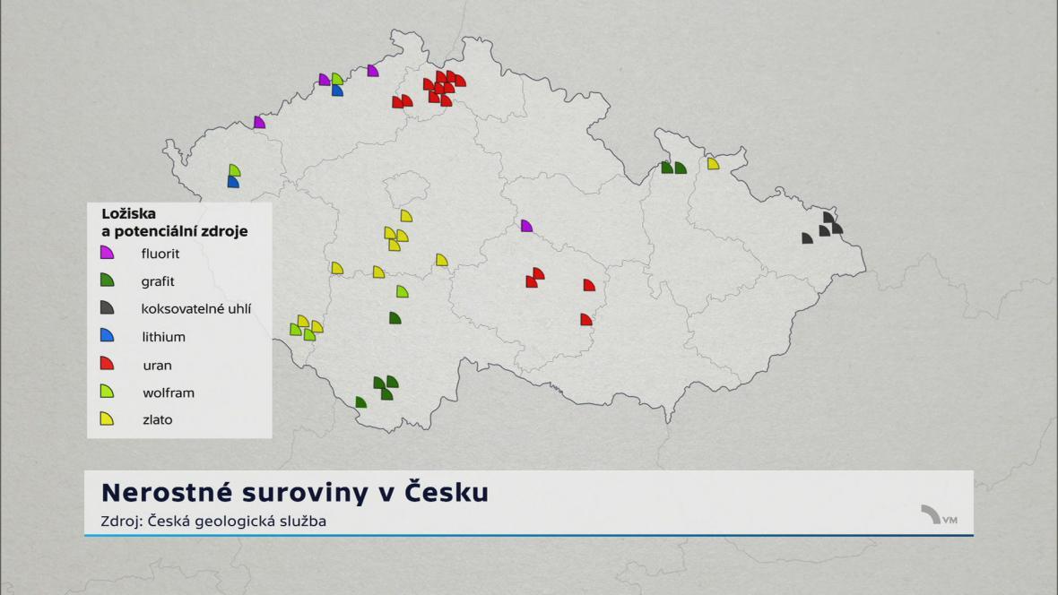 Nerostné suroviny v Česku