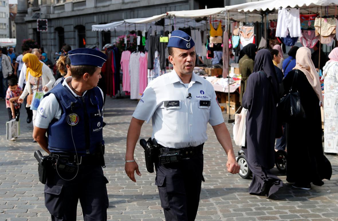 Policie na hlídce v Molenbeeku