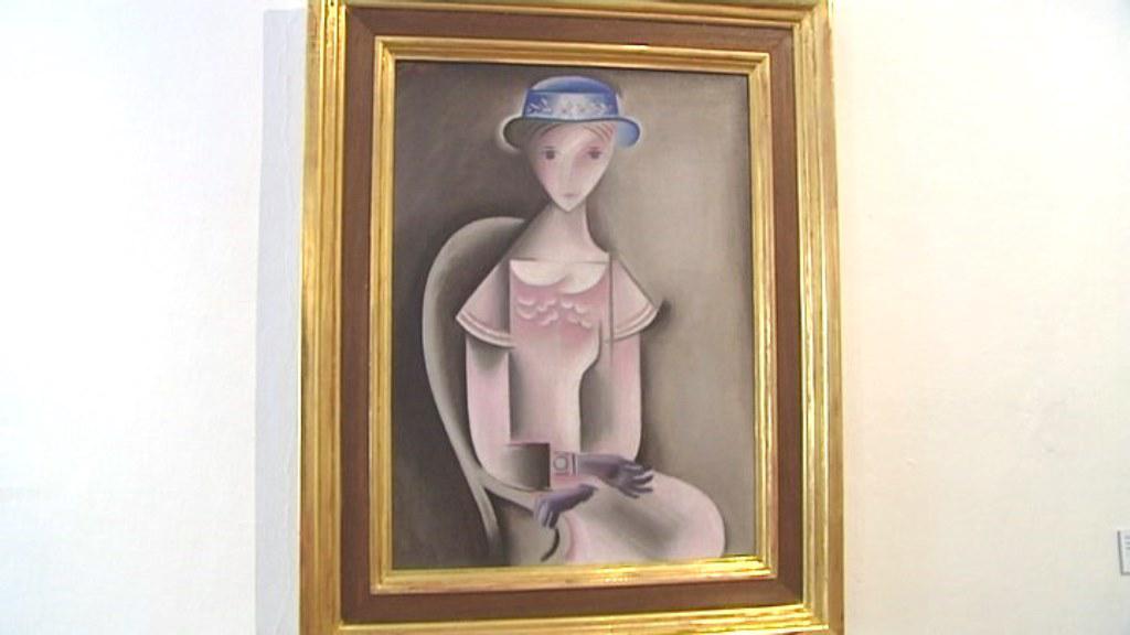 Dívka v růžových šatech od Josefa Čapka