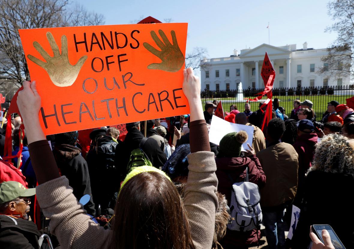 Protest proti změnám zdravotnické reformy
