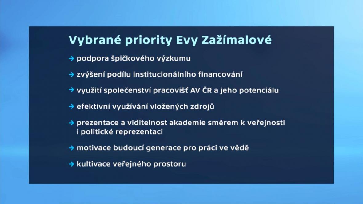 Vybrané priority Evy Zažímalové