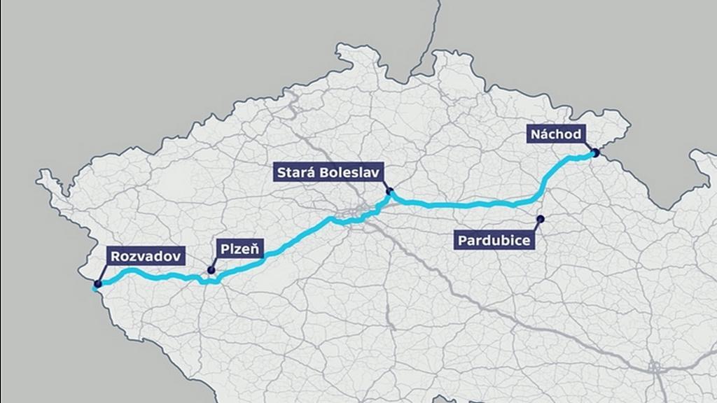 Trasa průjezdu konvoje