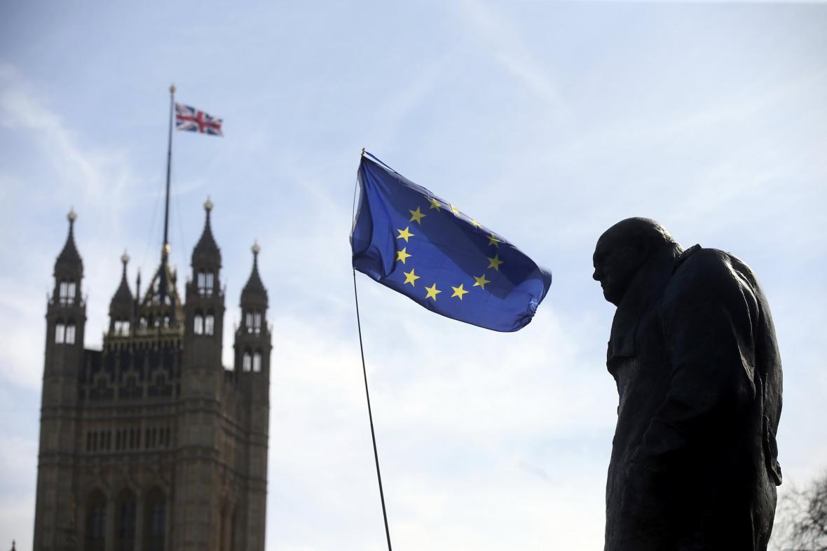 Londýnská demonstrace proti odchodu Británie z EU