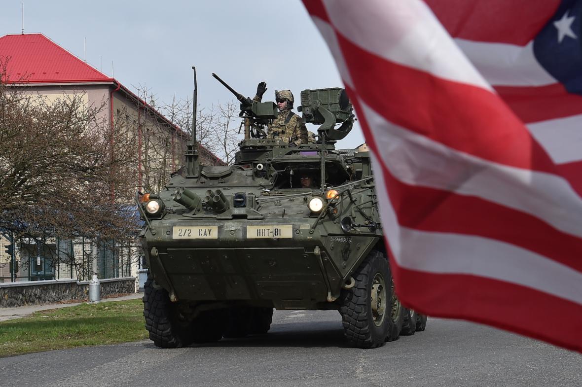 Konvoj americké armády na českém území