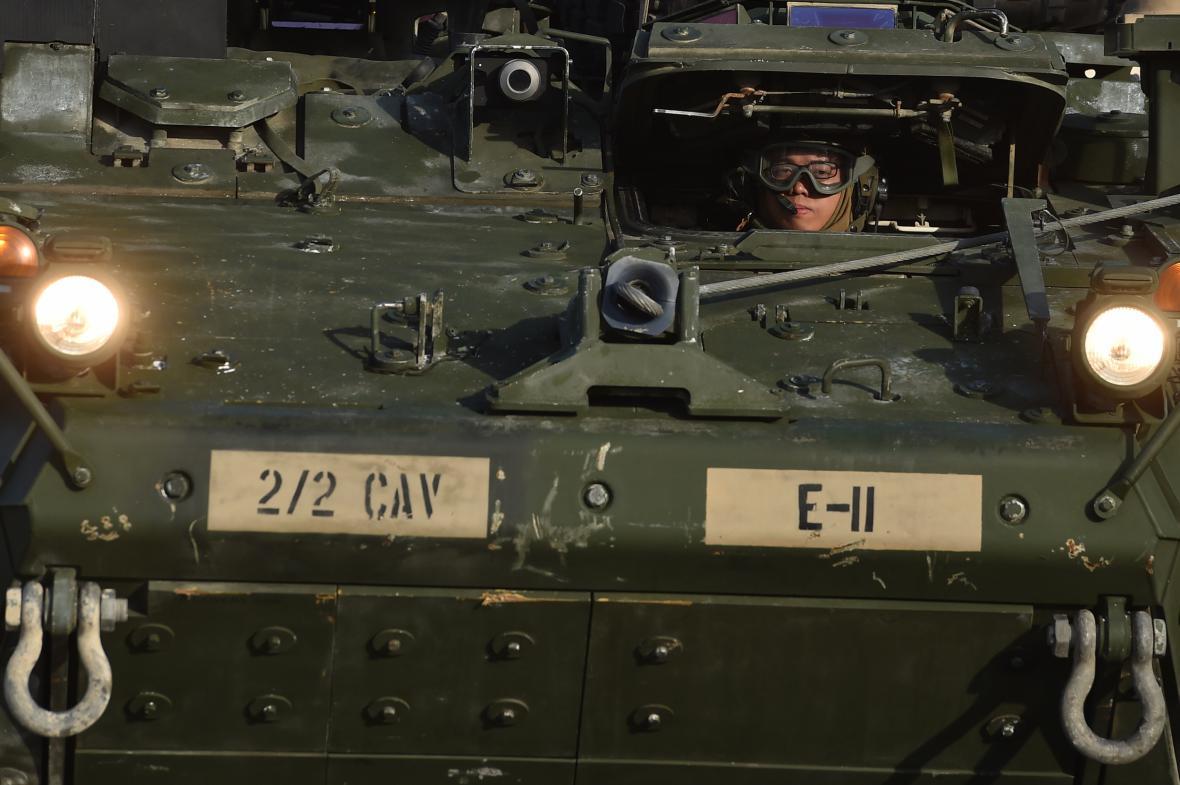 Konvoj americké armády v Česku