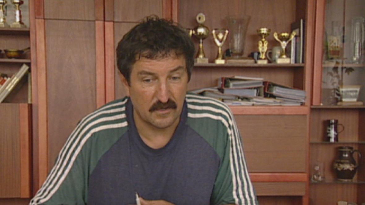 Ředitel společnosti Agrochov František Sedlák (léto 2003)